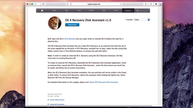 os x recovery step 1